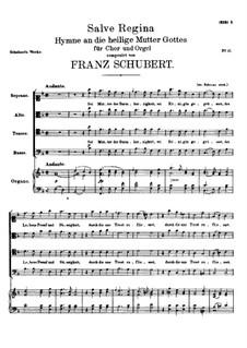 Salve Regina, D.379: Salve Regina by Franz Schubert