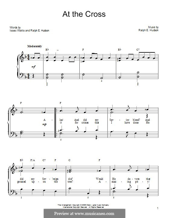 At the Cross: For easy piano by Ralph E. Hudson