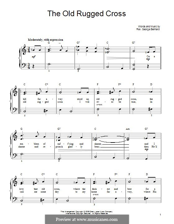 The Old Rugged Cross By G Bennard Sheet Music On Musicaneo