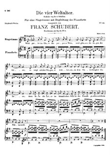Die vier Weltalter (The Four Ages of the World), D.391 Op.111 No.3: G minor by Franz Schubert