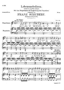 Lebensmelodien (Melodies of Life), D.395 Op.111 No.2: For voice and piano by Franz Schubert