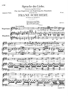 Sprache der Liebe (Language of Love), D.410 Op.115 No.3: E Major by Franz Schubert