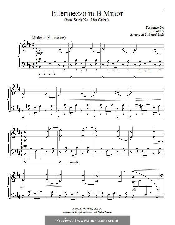Intermezzo in B Minor: Intermezzo in B Minor by Frank Levin