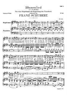 Blumenlied (Flower Song), D.431: E Major by Franz Schubert