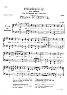 Schlachtgesang (Battle Song), D.443: E Major by Franz Schubert