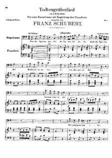 Totengräberlied (Gravedigger's Song), D.44: G Major by Franz Schubert