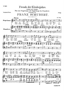 Freude der Kinderjahre (Joy of Childhood), D.455: C Major by Franz Schubert