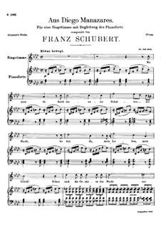 Aus Diego Manazares, D.458: A flat Major by Franz Schubert