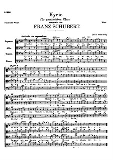 Kyrie for Choir in B Flat Major, D.45: Kyrie for Choir in B Flat Major by Franz Schubert