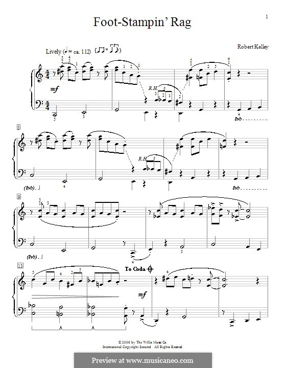 Foot-Stampin' Rag: For piano by Robert Kelley