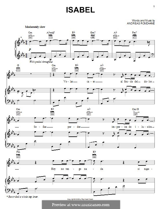 Isabel il divo by a 39 romdhane sheet music on musicaneo - Il divo free music ...