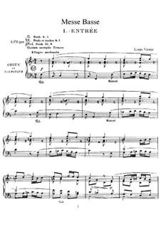 Messe Basse, Op.30: Messe Basse by Louis Vierne