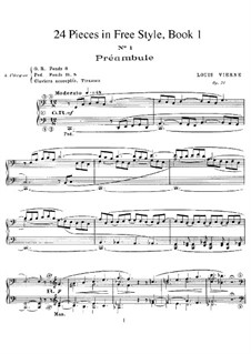 Twenty-Four Pieces in Free Style, Op.31: Book I by Louis Vierne