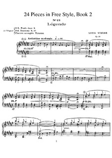 Twenty-Four Pieces in Free Style, Op.31: Book II by Louis Vierne