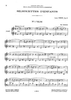 Silhouettes d'enfants, Op.43: Silhouettes d'enfants by Louis Vierne