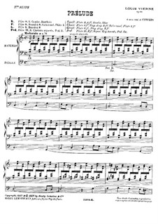 Suite No.1 for Organ, Op.51: For a single performer by Louis Vierne