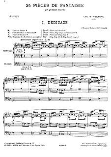 Suite No.3 for Organ, Op.54: For a single performer by Louis Vierne