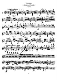 Six Concert Etudes for Violin, Op.16: Six Concert Etudes for Violin by Henri Vieuxtemps