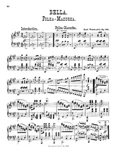 Bella, Op.113: For piano by Émile Waldteufel