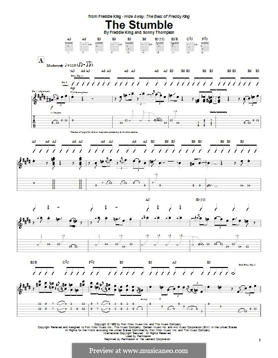 The Stumble: For guitar with tab by Sonny Thompson