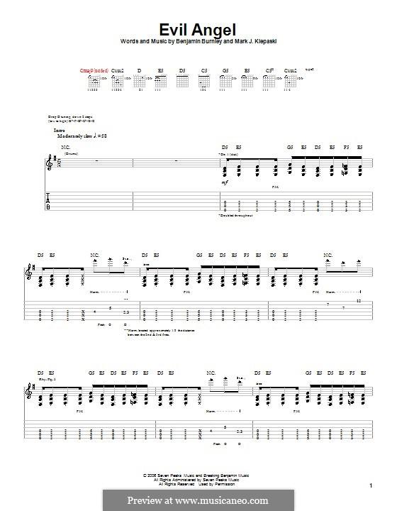 Evil Angel (Breaking Benjamin): For guitar with tab by Benjamin Burnley, Mark J. Klepaski