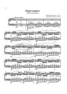 Fantasia-Impromptu in C Sharp Minor, Op.66: For piano (high quality sheet music) by Frédéric Chopin