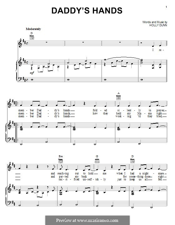 Daddy's Hands: For voice and piano (or guitar) by Holly Dunn