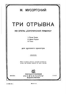 Fragments: Song of Khivrya, Dumka of Parasya and Gopak – parts by Modest Mussorgsky