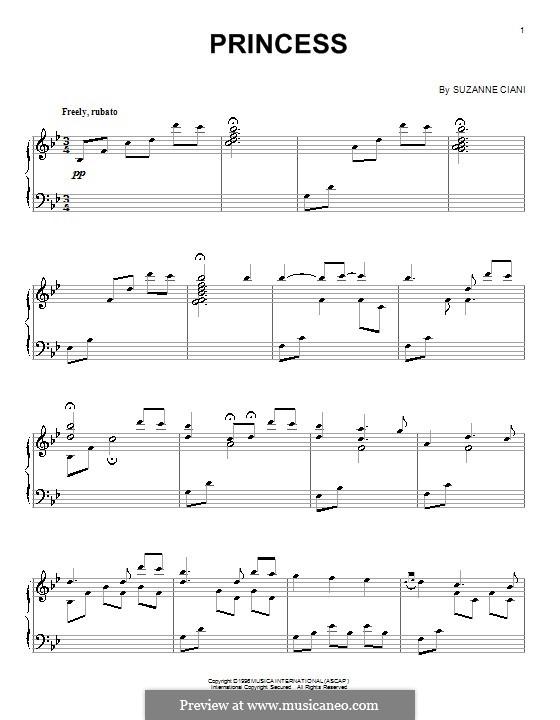 Princess: For piano by Suzanne Ciani