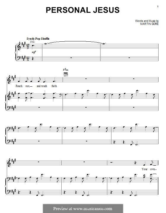Personal Jesus (Marilyn Manson): For voice and piano (or guitar) by Martin Gore