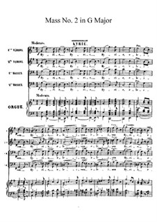 Mass No.2 in G Major: Full score by Charles Gounod
