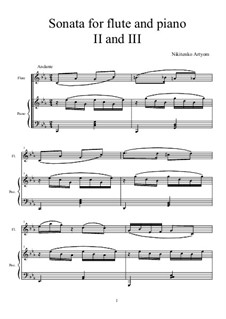 Sonata for Flute and Piano: 2nd and 3rd Movements by Artem Nikitenko