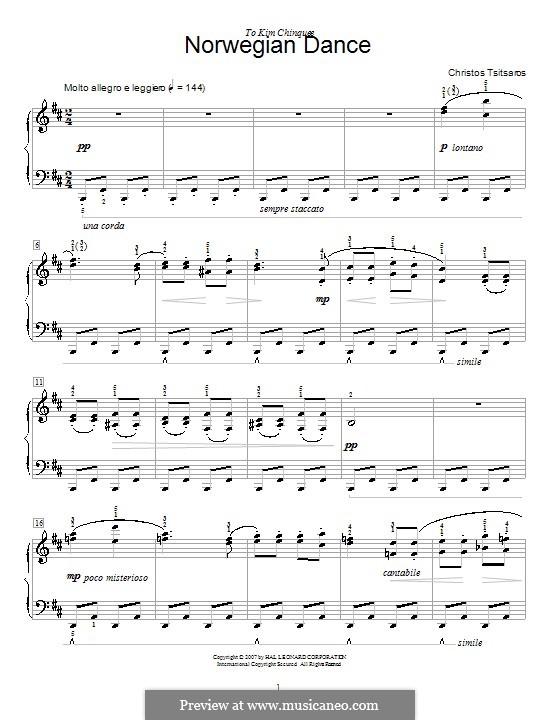 Norwegian Dance: For piano by Christos Tsitsaros