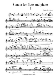 Sonata for Flute and Piano: Solo part by Artem Nikitenko