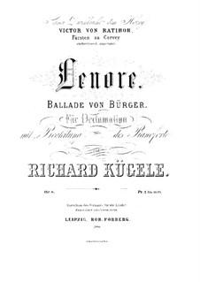 Lenore, Op.8: Lenore by Richard Kügele