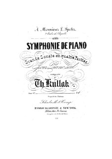 Symphony-Sonata for Piano in E Flat Major, Op.27: Symphony-Sonata for Piano in E Flat Major by Theodor Kullak