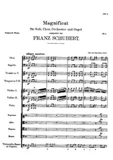 Magnificat in C Major, D.486: Full score by Franz Schubert