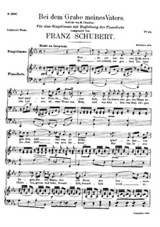 Bei dem Grame Meines Vaters (At My Father's Grave), D.496: E flat Major by Franz Schubert