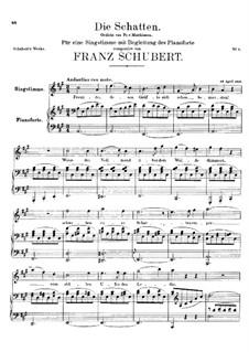 Die Schatten (The Shades), D.50: C Major by Franz Schubert