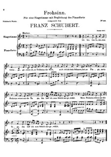 Frohsinn (Cheerfulness), D.520: F Major by Franz Schubert