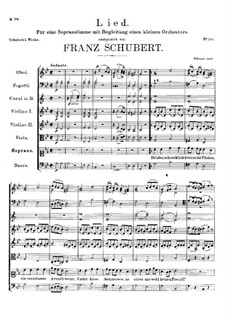 Song for Voice and Orchestra, D.535: Song for Voice and Orchestra by Franz Schubert