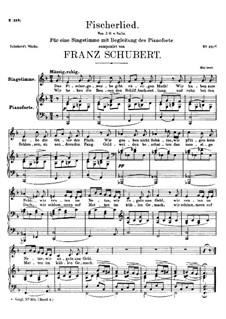 Fischerlied (Fisherman's Song), D.562: F Major by Franz Schubert