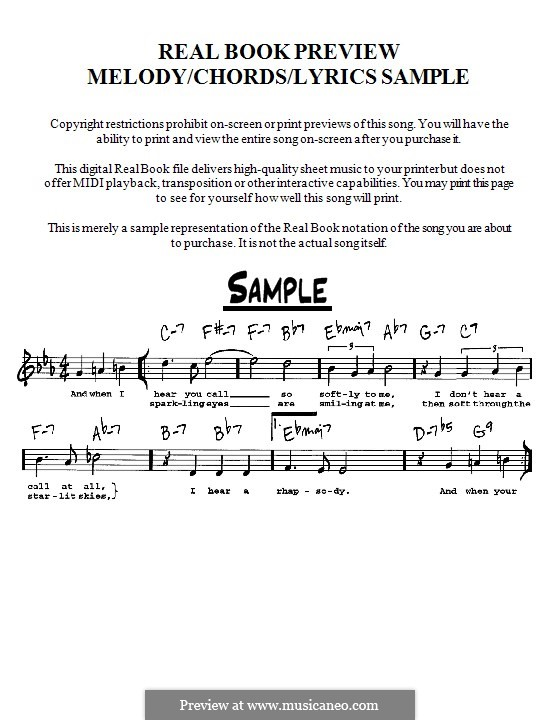 The Lady Sings the Blues (Billie Holiday): Melody, lyrics and chords - C instruments by Herbie Nichols