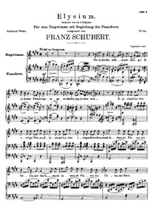 Elysium, D.584: For voice and piano by Franz Schubert