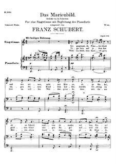 Das Marienbild (Picture of the Virgin Mary), D.623: C Major by Franz Schubert