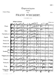 Overture for Orchestra in E Minor, D.648: Overture for Orchestra in E Minor by Franz Schubert