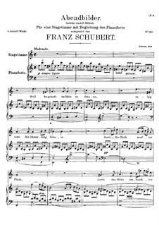Abendbilder, D.650: For voice and piano by Franz Schubert