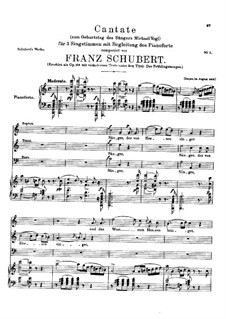 Cantata for the Birthday of the Singer Michael Vogl, D.666 Op.158: Cantata for the Birthday of the Singer Michael Vogl by Franz Schubert