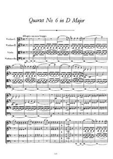 String Quartet No.6 in D Major, D.74: String Quartet No.6 in D Major by Franz Schubert