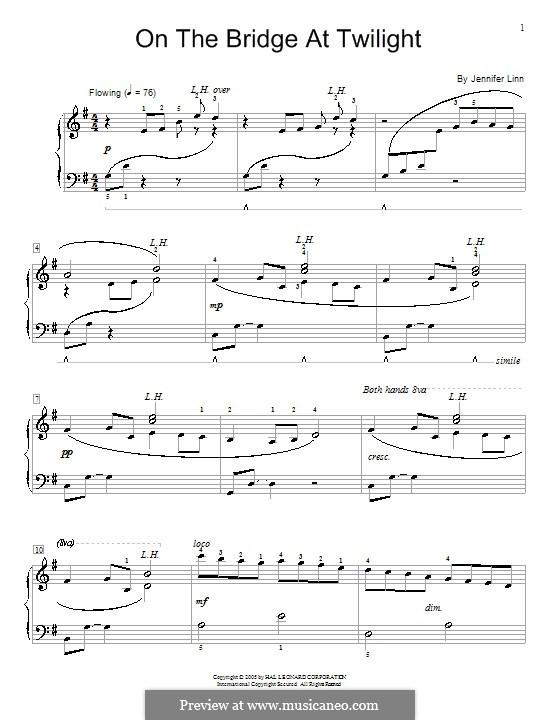 On the Bridge at Twilight: For piano by Jennifer Linn